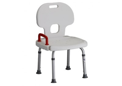 Shower chair with red handle